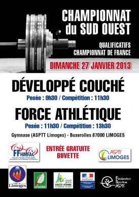 Championnat du sud ouest de force athl tique et d velopp couch asptt limoges halt rophilie - Programme force developpe couche ...